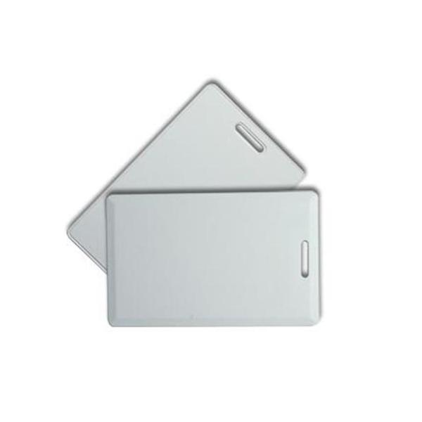 """Plastkort hvite Clamshell + """"Kodbart Prox"""""""
