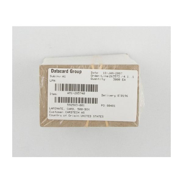 Plastkort ( Laminater til kort , eske av 500 stk.)